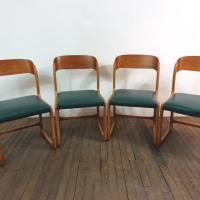 8 chaises traineau baumann