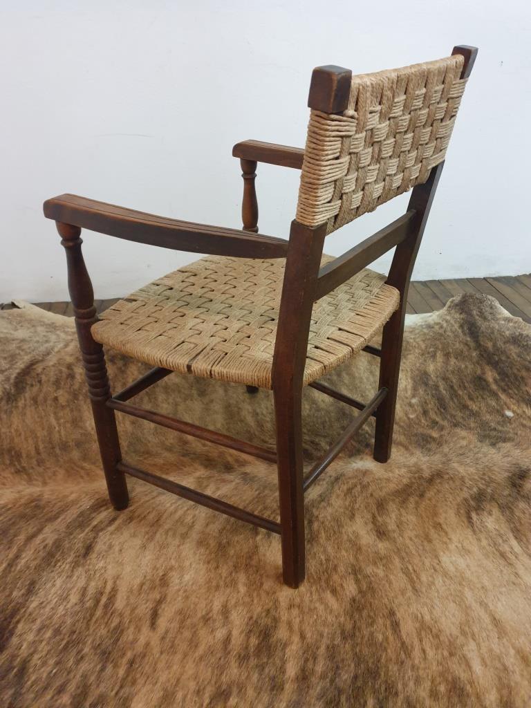 8 fauteuil bois corde