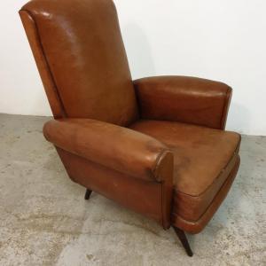 8 fauteuils cuir