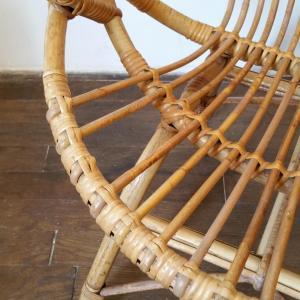 8 fauteuils en osier