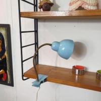 8 lampe cocotte pince bleue