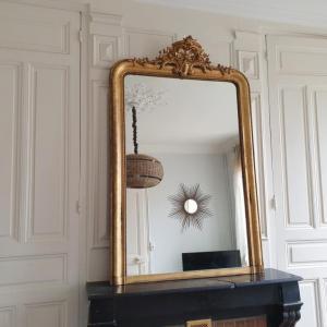 8 miroir dore a fronton
