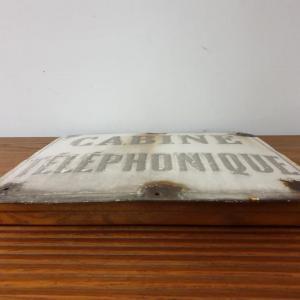 8 plaque emaillee cabine telephonique