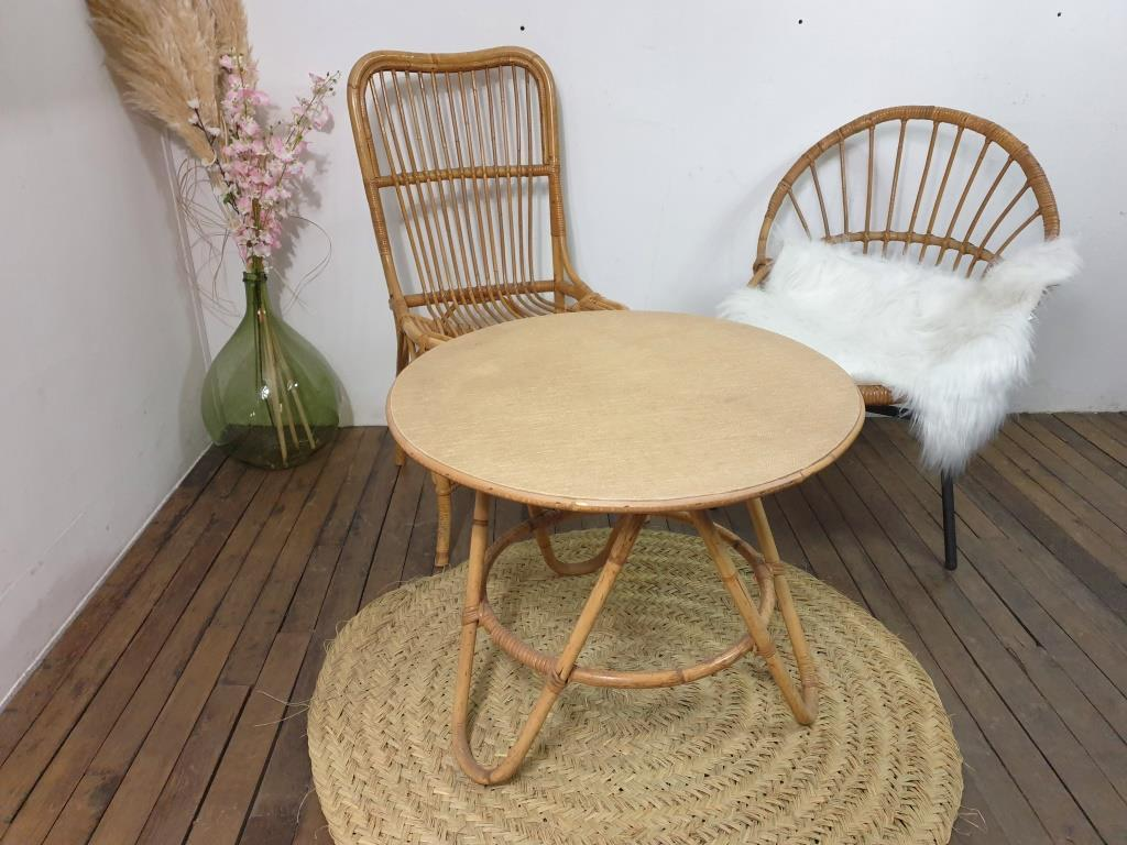 8 table basse en bambou