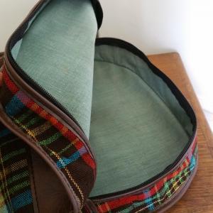 9 housse de guitare tissu ecossais