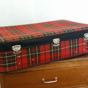 9 valise tissu ecossais