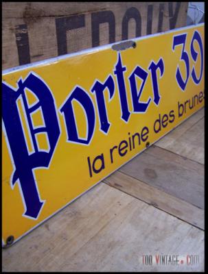 Plaque émaillée PORTER 39