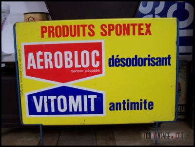 Plaque publicitaire SPONTEX