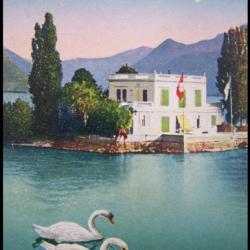 Carte Postale Ancienne Suisse du Lac Leman