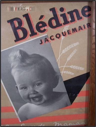 Cadre publicitaire Blédine