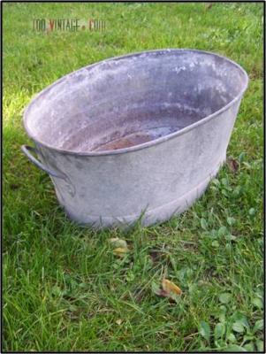 Ancienne bassine en zinc