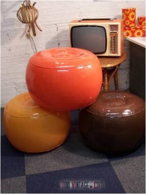 Poufs gonflables 70's