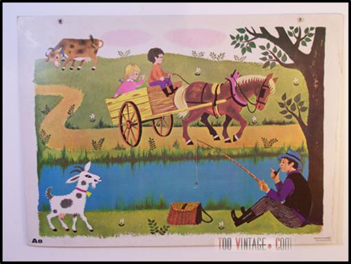 Ancienne affiche d'école Daniel et Valérie