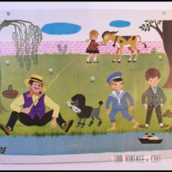 Ancienne affiche d'école